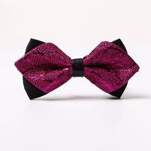 1PC Fashion Men's Silk Ties Adjustable Men's Tuxedo Wedding Bow Ties Classic Novelty Party Shiny Satin Necktie Party Tuxedo Gift