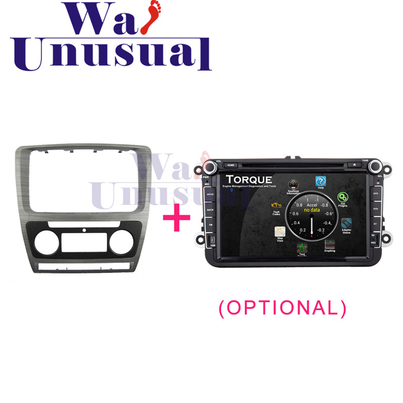 2 DIN Top Quality Car Radio Fascia Panel for Skoda Octavia 2010 Stereo Dash CD Facia Trim Installation Kit 11 405 car radio dash cd panel for kia skoda citigo volkswagen up seat mii stereo fascia dash cd trim installation kit