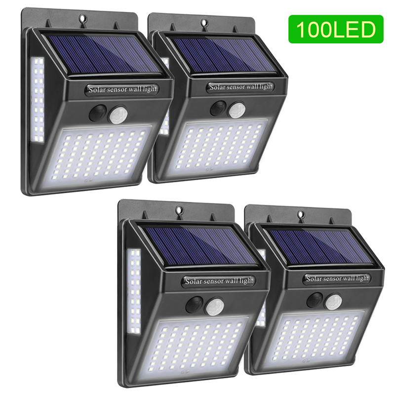 LED Solar Light Outdoor Solar Lamp With PIR Motion Sensor Solar Powered Waterproof Wall Light For Garden Yard Path Decoration