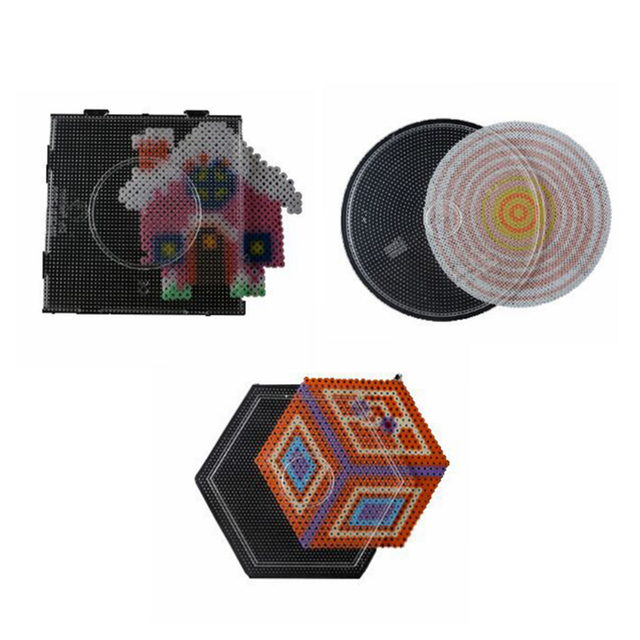 Frete grátis 3 pcs grandes pegboards para 2.6mm DIYFASHION fused beads para contas hama perler contas brinquedo educativo DIY