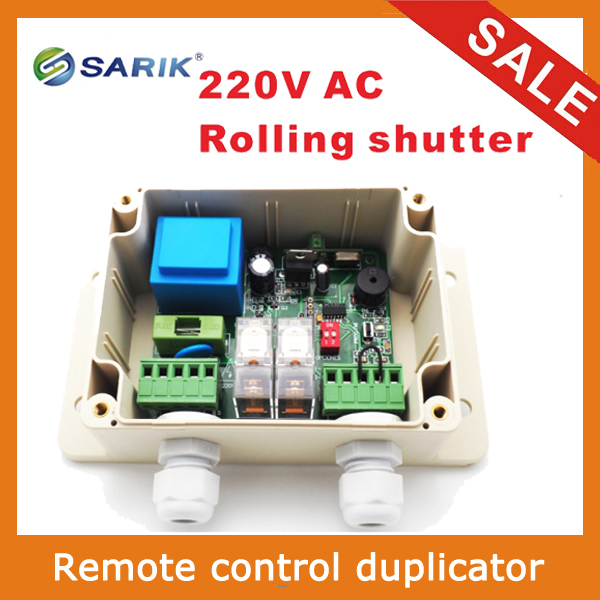 2018 Newest RF Wireless 220V Remote Control Switch for roller shutter 2 relay 433mhz