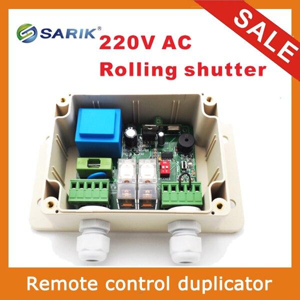 2018 plus récent RF sans fil 220 V commutateur de contrôle à distance pour volet roulant 2 relais 433 mhz