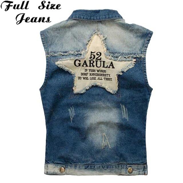 Plus Size Sleeveless Jean Jacket  Men's Denim Vest coat Oversized  Vintage Punk Casual Jacket New 3XL 4XL 5XL 6XL