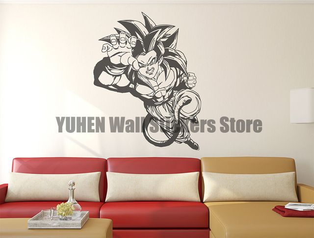 Dragonball Z Super Wall Decal Goku Kids Boy Girl Nursery Room Sticker  Design Boys, Wall Mural, Wall Decor