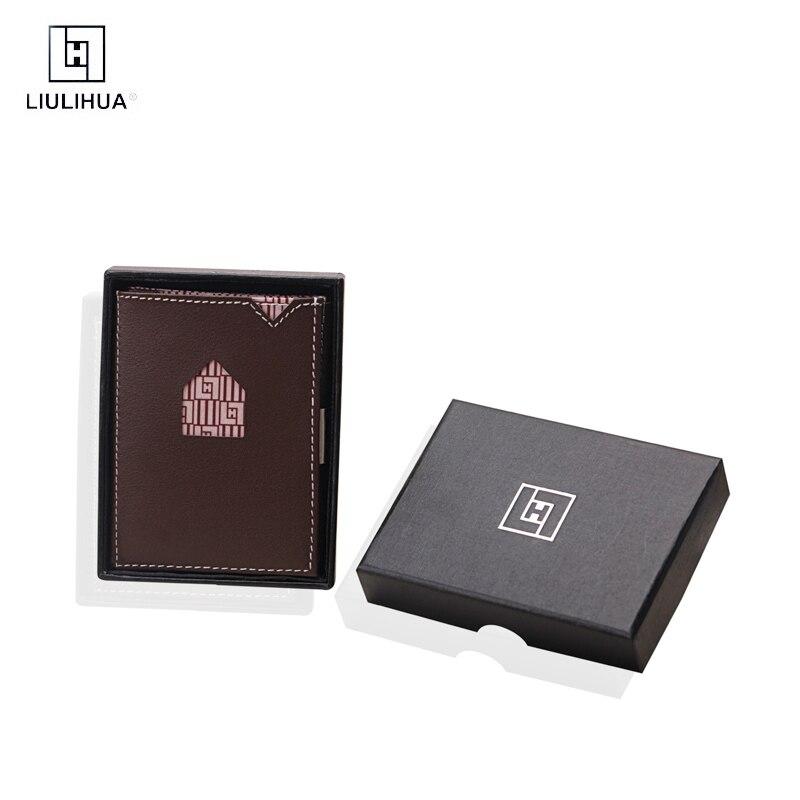 Poche avant hommes sacs à main porte-carte de crédit Smart Rfid Id sac à main mince minimaliste portefeuille hommes exentri modèle similaire cartes paquet
