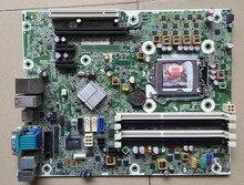 Для hp compaq 6280 6200 pro sff оригинальный использовать рабочий стол материнская плата 615114-001 614036-002 для intel q65 гнездо lag 1155 ddr3 BTX