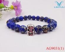 Trendy mirco pave Gold color Helmet bracelet Bangle imperial stone Bracelet Jewelry For Men Or Women pulseiras masculina
