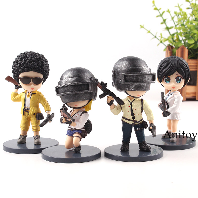 4 Pcs//Set Playerunknown/'s BattleGrounds PUBG Q Version PVC Figures Model Toy