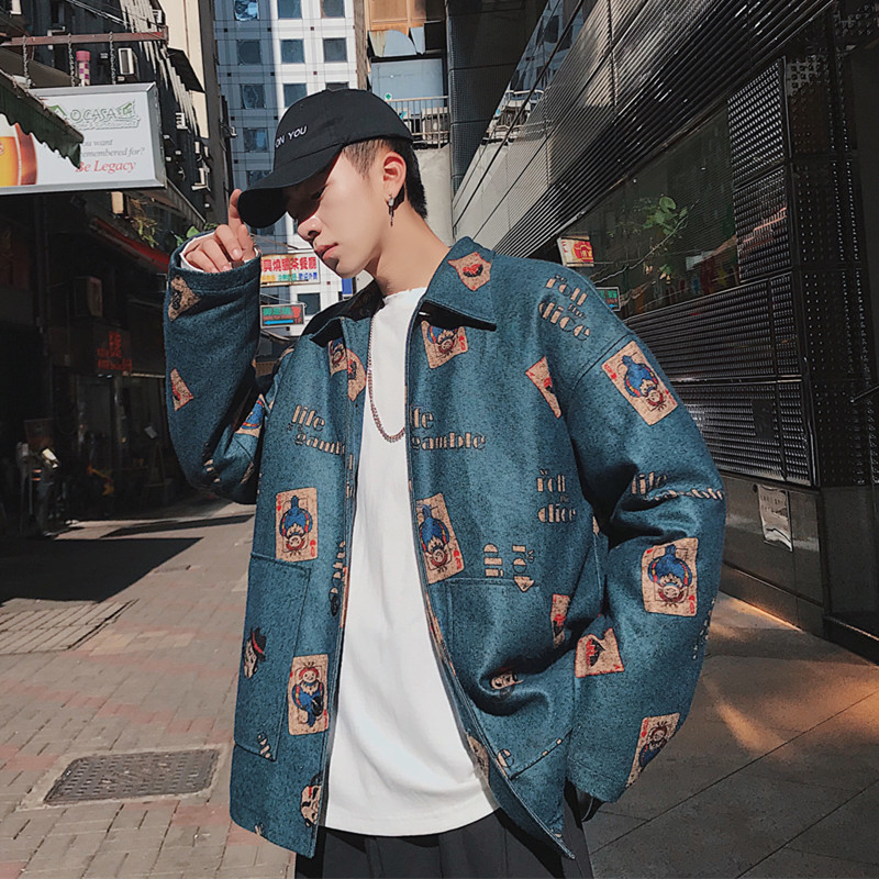 2018 Spring Clothes New Pattern Easy Jacket Unlined Upper Garment Male personality city boy casual Favourite Recommend Best