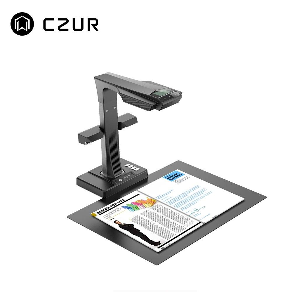CZUR ET16 Plus Scanner de livre Premium avec fonction OCR caméra HD, A3 A4 Document Photo Portable lecteur haute vitesse pour Windows Mac