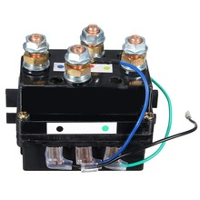 400A Black  Winch Relay Solenoid DC 12V Car Vehicle ATV Truck With 6 Pattern Protection Caps 21X #273101