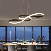 Длина 1250/750 мм современные светодиодные висит люстра для столовой Кухня зал Бар подвесной светильник подвесной Люстры AC85-265V