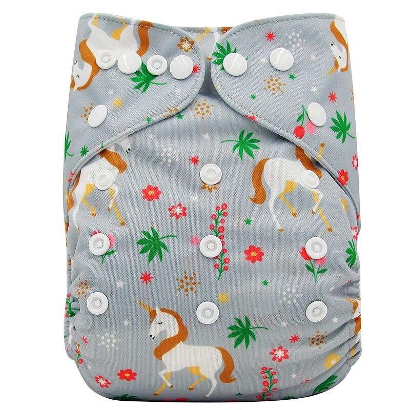 Ohbabyka, детские тканевые подгузники, многоразовые подгузники, унисекс, детские штаны для ухода за ребенком, водонепроницаемые тканевые подгузники с карманами, детские подарки для душа - Цвет: OB177