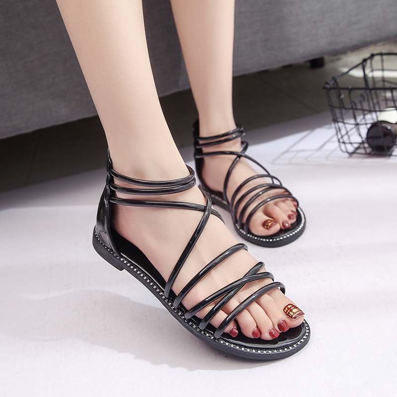 2018 Gladiator Sandals Women Summer Shoes Platform Fashion Women Flats Sandals Casual Occasions Comfortable Female Sandals rhinestone silver women sandals low heel summer shoes casual platform shiny gladiator sandal fashion casual sapato femimino hot