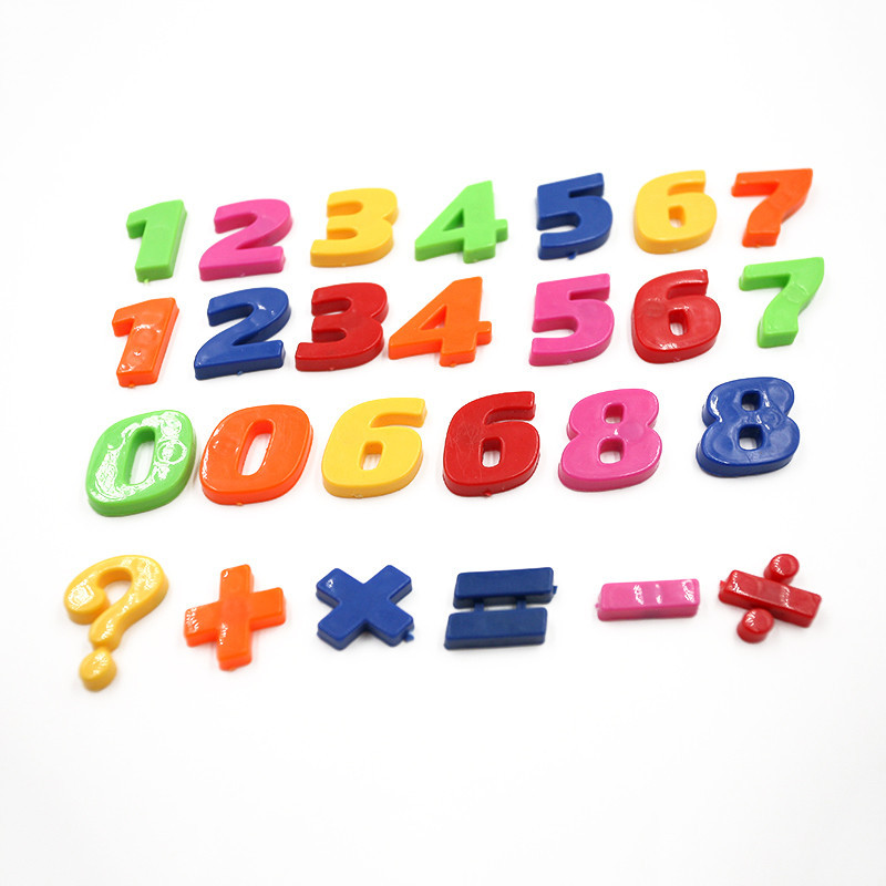 1set Children Gift Number Plastic Fridge Magnet Education