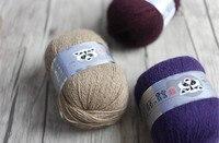 Miễn phí Vận Chuyển 300 gam (50 gam * 6 cái) Chồn Cashmere Sợi Cho Tay-Dệt Kim Crochet Mỏng chủ đề Tốt Mặc Trong Mùa Đông Một