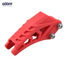 GOOFIT 420 428 red Chain Guide Guard Protector Fit CRF 250 R EXC YZF KXF KTMX for BSE Bosuer Dirt Bike Pit