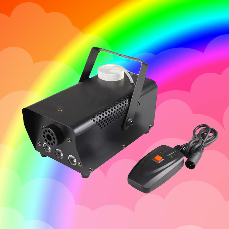 RGB 3in1 Color Change 500W Smoke Machine Wire Control Fog Machine Professional Stage Fogger Great Effect For Disco Concert Party