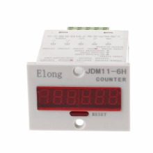 6-Digits Display Electronic Counter JDM11-6H 0-999999 Counting Power Off Memory