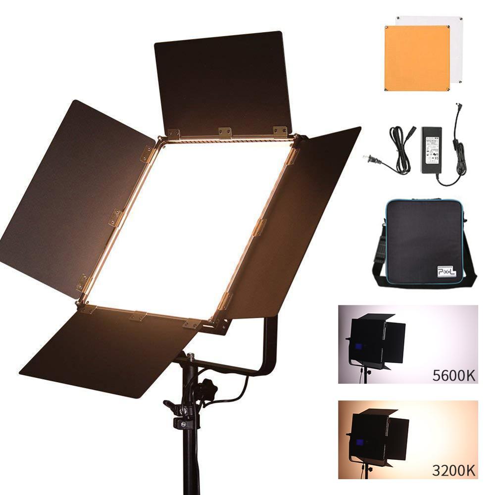PIXEL K90S LED lumière vidéo Studio lumière photographique éclairage 3200 K-5600 K LCD panneau d'affichage lampes pour Photo Youtube