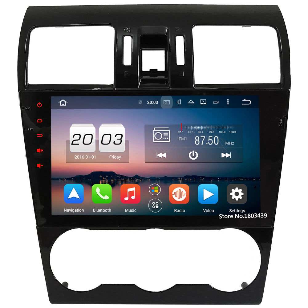 9 WiFi 4G Octa Core 4GB RAM Android 6.0 DAB+ 32GB ROM Car DVD Multimedia Player Radio For Subaru Forester XV WRX 2013-2017 joying hd 9 screen multimedia player 4gb ram octa core android 8 1 car dvd gps navigator radio for subaru forester 2008 2012