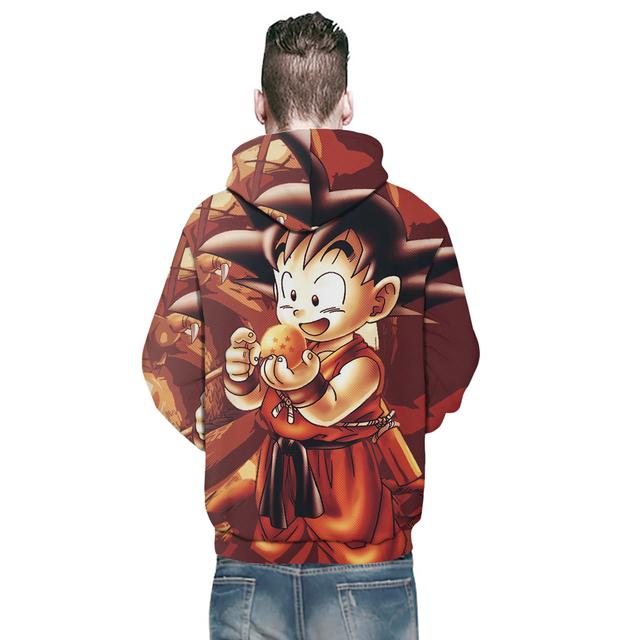 Dragon Ball Z Gohan Kid Goku 3D Hoodies