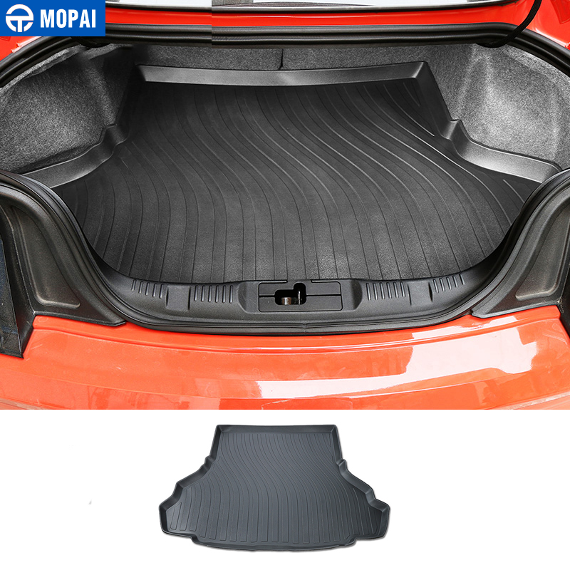 MOPAI Rubber Car Interior Trunk Cargo Liner Floor Pad Mat Accessories For Ford Mustang 15 Up Car Styling car believe custom car trunk mat for peugeot 5008 508 206 4008 306 307 308 207 cargo liner interior accessories car styling
