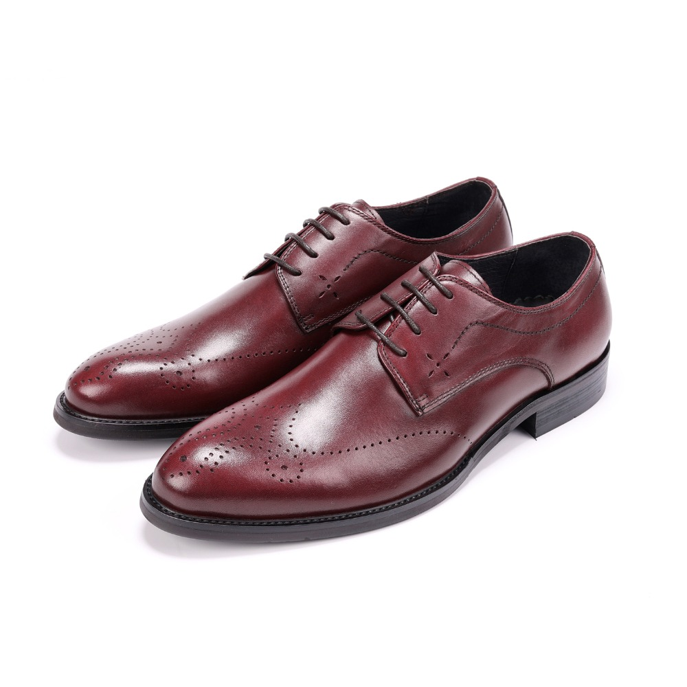 Fashion Oxfords Mens Dress Shoes Genuine Leather Business Shoes Male Formal Wedding Groom ShoesFashion Oxfords Mens Dress Shoes Genuine Leather Business Shoes Male Formal Wedding Groom Shoes