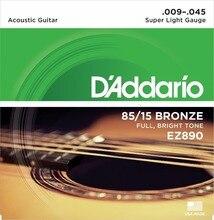D'Addario EZ890 Great American Bronze Super Light Acoustic Guitar Strings 009-045