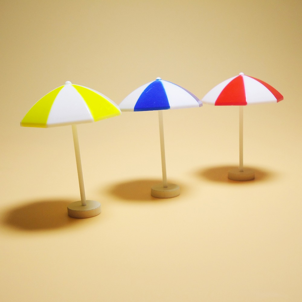 Mini doll house accessories miniature simulation life scene sun umbrella