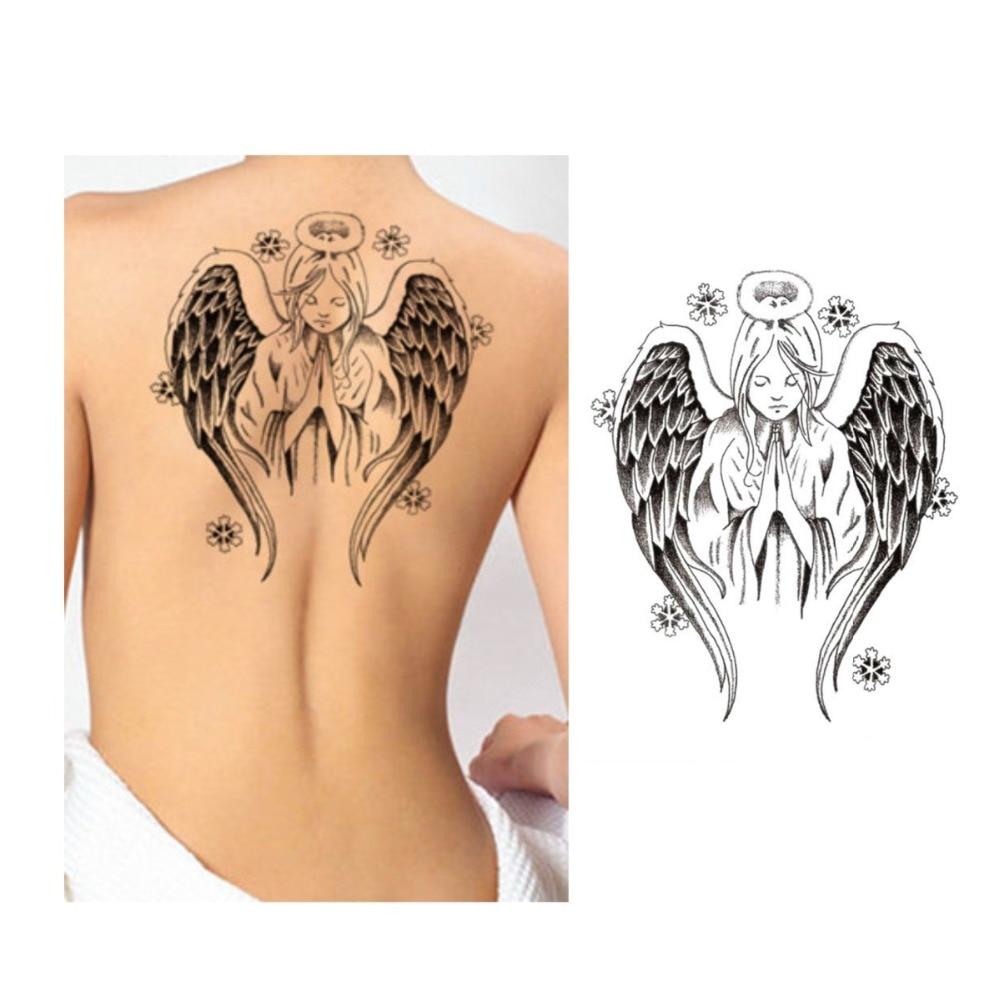 5pcs 3d angel tattoos sticker sexy angel wings flash for Sexy angel tattoo