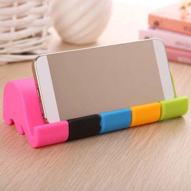 Universal Mini Elephant Table Desk Mount Stand Phone Holder for iPhone 5 6 7 8 X Plus Cell Mobile Phone Tablets