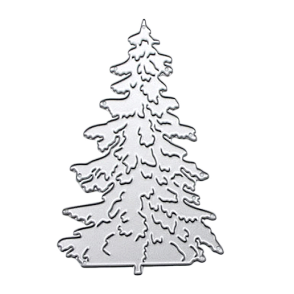 3PCS Carbon Steel Metal Christmas Tree Embossing Cutting Dies Stencils Templates Mould Set for DIY Scrapbooking Album Paper Card