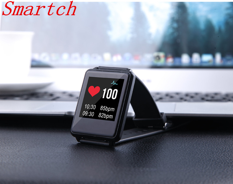 Smartch TK002 Bluetooth Smartband IP67 Waterproof Smart band Heart Rate Monitor Bracelet Alarm Clock Pedometer Wristband
