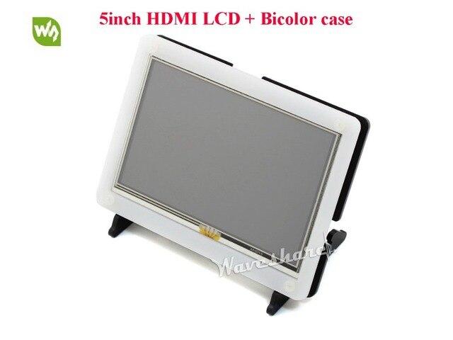 Waveshare 5 дюймов HDMI ЖК-Модуль 800*480 Резистивный Сенсорный Экран с Случае ЖК-Дисплей Поддерживает Raspberry Pi 3B 2B A + B +