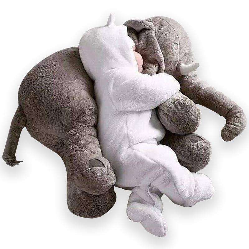 Elephant Plush Pillow Baby Sleeping Back Cushion Baby Elephant Stuffed Animal Toy 60CM Stuffed Elephant Doll Baby Toys Gifts