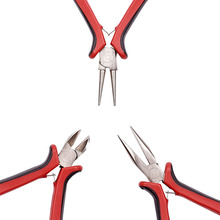 цены 3pcs Free Shipping DIY Jewelry Making Tool Sets Ferronickel Side-Cutting /Chain-Nose/Flat Nose/Round Nose Pliers