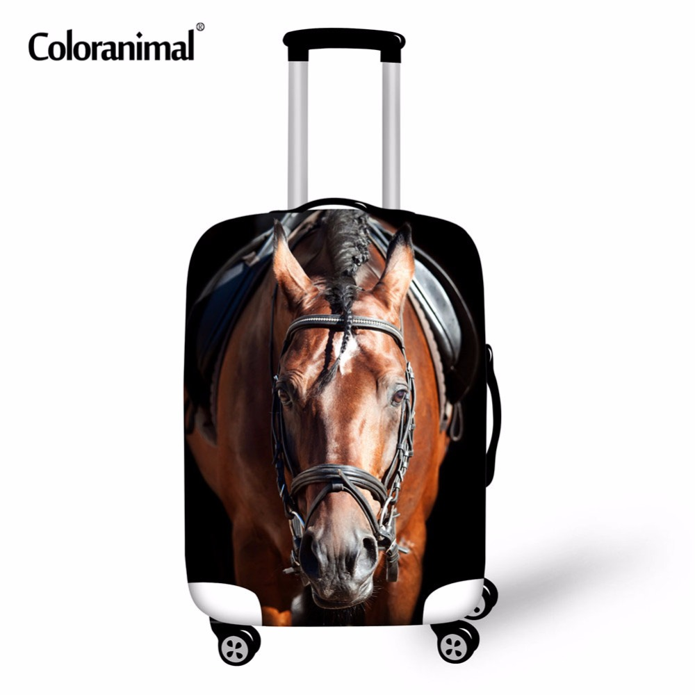Crazy Horse 3D Animal Trolley Luggage Protective Cover 3D Animal Owl Zebra Tiger Head Suitcase Bag Case Cover Travel Accessories