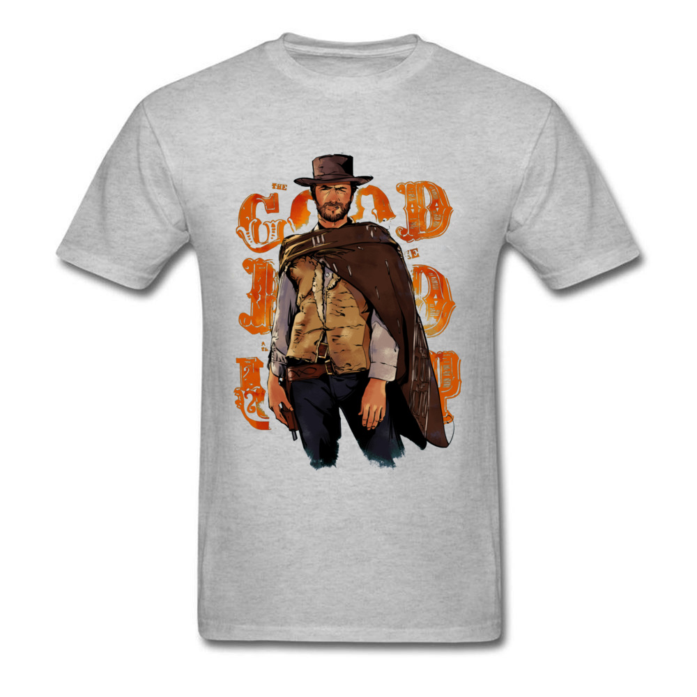 Male Tshirt Clint Eastwood Good Bad Ugly T Shirt Short Sleeve Men T-shirt Hiphop Kpop Cotton Crewneck Plus Size Vintage T Shirts