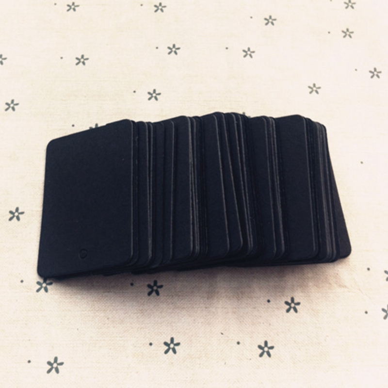 200PCS black cardboard paper blank cards,Handmade post card,Paper crafts.scrapbooking Free shipping .35*50mm 026011012