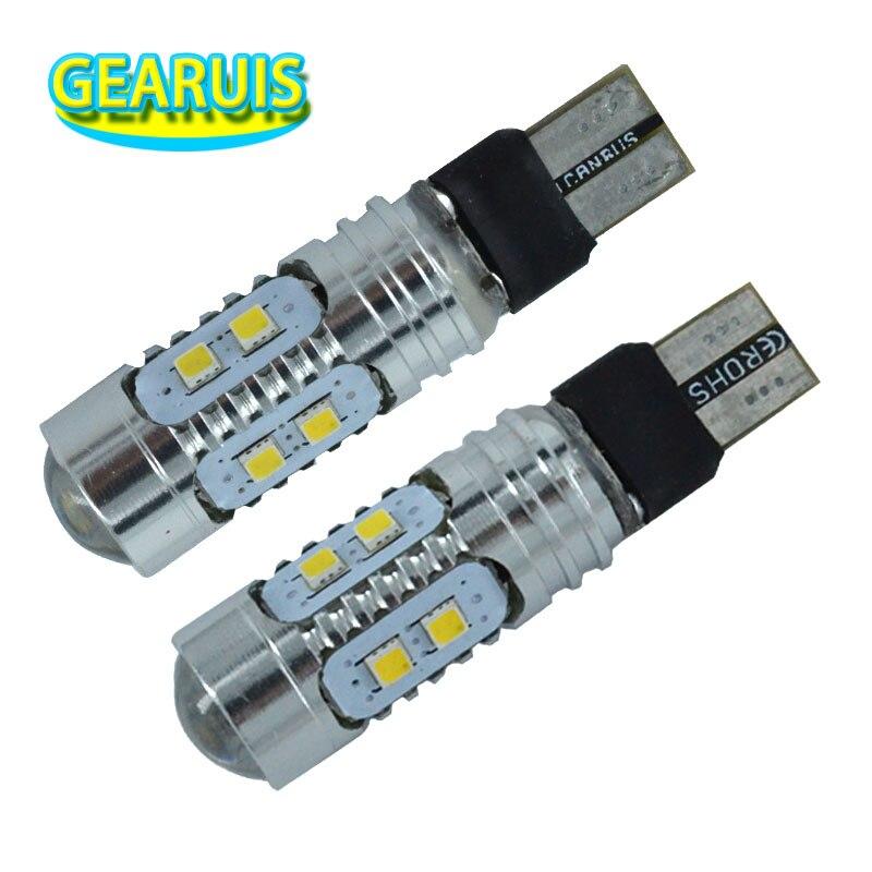 100 pces carro do diodo emissor de luz do automóvel 9 v a 30 v lente t10 canbus 2323 10 smd local levado w5w 194 168 lampada