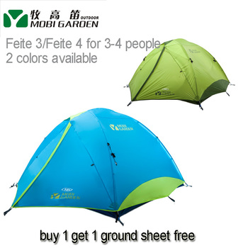Mobi Garden FEITE 3air/FEITE 4air  Large-space  Double Layer Aluminum Pole 3-4 people 3-season Camping Tent