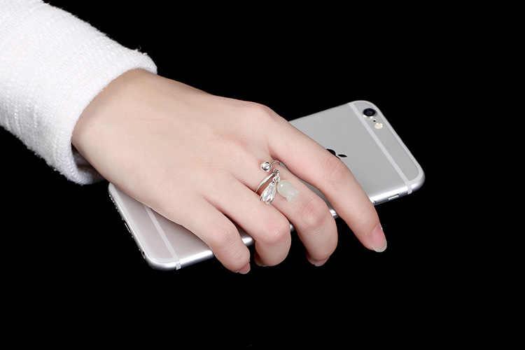 S925 เงินสเตอร์ลิงแฟชั่น Elegant ดอกไม้แหวนผู้หญิงคุณภาพสูงเปิดแหวนผู้หญิงเครื่องประดับของขวัญ