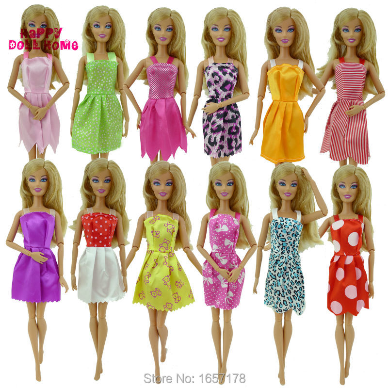 Random-12-Mix-Sorts-Beautiful-Handmade-Party-Dress-Fashion-Clothes-For-Barbie-Doll-Kids-Toys-Gift-Play-House-Dressing-Up-Costume-4