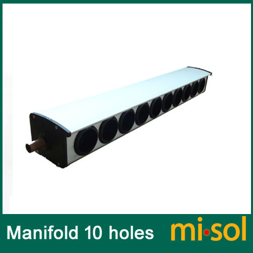 manifold (10 holes, diameter: 58mm) for solar collector, for solar water heatermanifold (10 holes, diameter: 58mm) for solar collector, for solar water heater