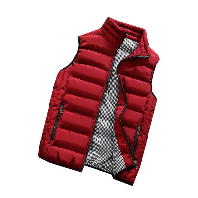 Image 4 - Male Cotton Vest Autumn and Winter Male Vest Couple Solid Color Thickening Vest Men Sleeveless Vest Jacket Waistcoat Large Size-in Vests & Waistcoats from Men's Clothing