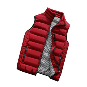 Image 4 - Male Cotton Vest Autumn and Winter Male Vest Couple Solid Color Thickening Vest Men Sleeveless Vest Jacket Waistcoat Large Size