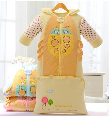 Winter newborn baby cartoon sleeping bag detachable sleeves folding sleeping lazy bag camping Infant baby bed swaddling clothes infant baby sleeping bag baby blankets quilt thick natural cotton sleeping bag detachable sleeves newborn swaddling clothes