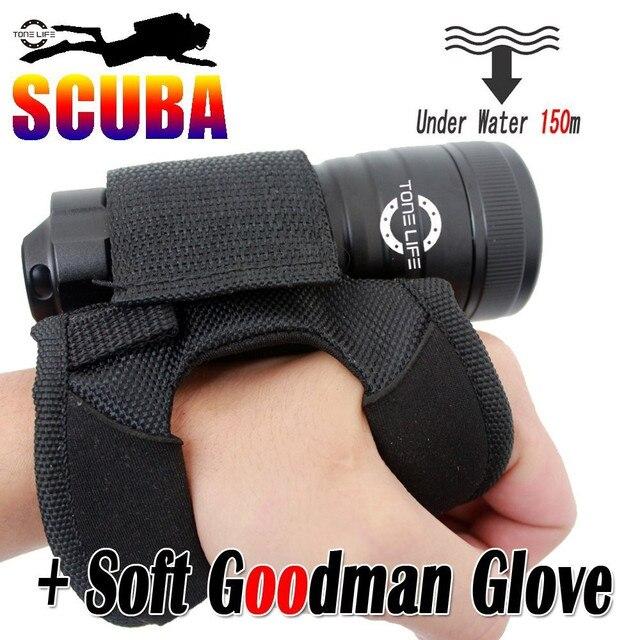800 lumens Scuba Dive Masks Light Cree U2 Led Diving Torch Underwater Flashlight  Lamp Neoprene Goodman Glove (torch+glove)