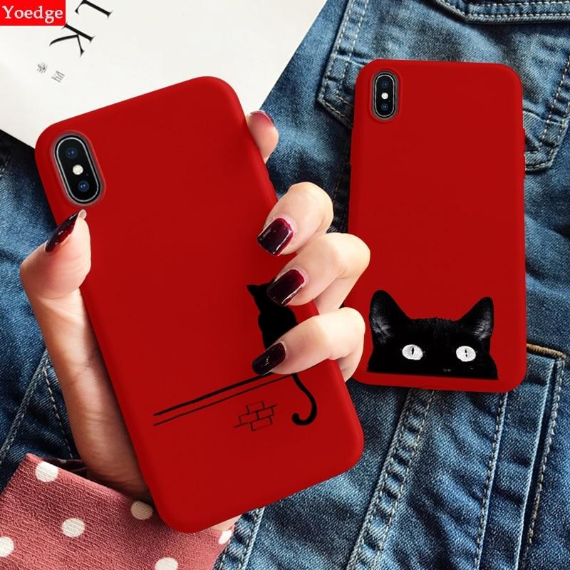 Caso de telefone Para o iphone 11 XS Pro Max XR X 10 8 7 6 6 S S Além de Luxo Macio TPU Tampa Traseira Vermelha Animal Capa Fundas Para o iphone X Caso
